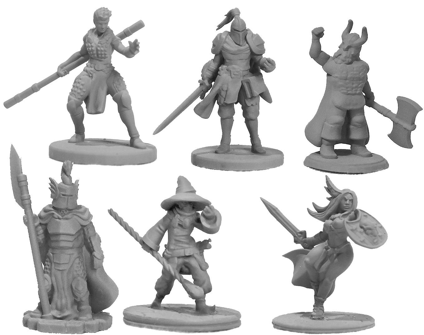 Set Heróis  - 6 miniaturas RPG Boargame Hobby pintura   - Dragon Store