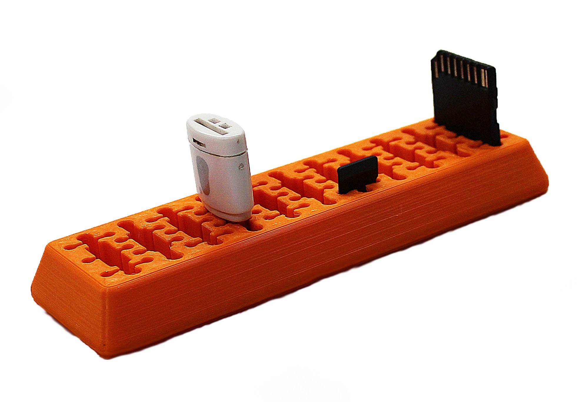 Suporte Organizador Pendrive Cartão de memória SD e Mini SD  - Dragon Store