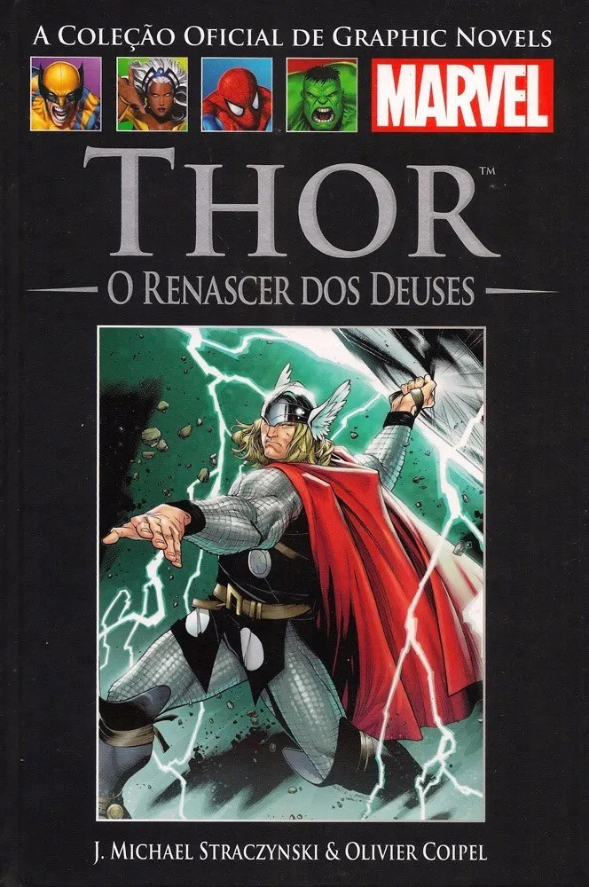 Thor o Renascer dos deuses Salvat nº 52 HQ Marvel Capa dura  - Dragon Store