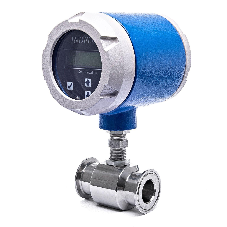 BLIT-A Indicador de vazão e totalizador de fluidos com entrada digital para medidor tipo turbina - IP65