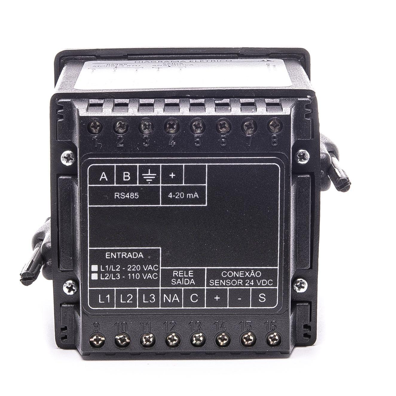 BLIT-P-MA Indicador de vazão e totalizador de volume para painel com entrada analógica