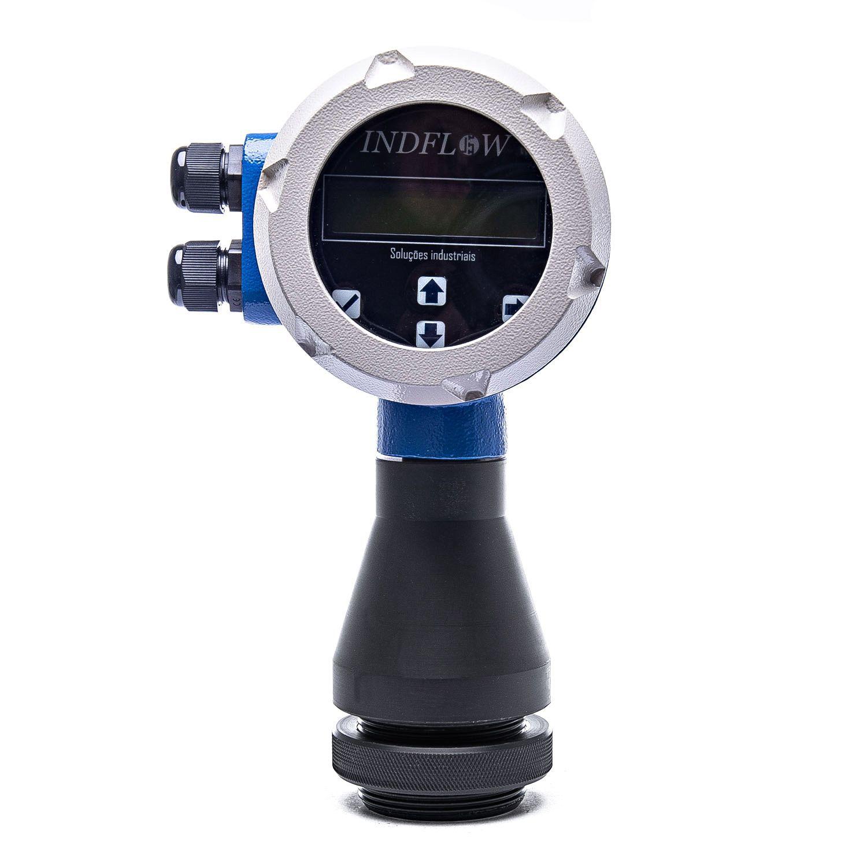 Medidor de nível ultrassônico com indicador de volume para tanque/silo/reservatório -BLIT-UT - IP67