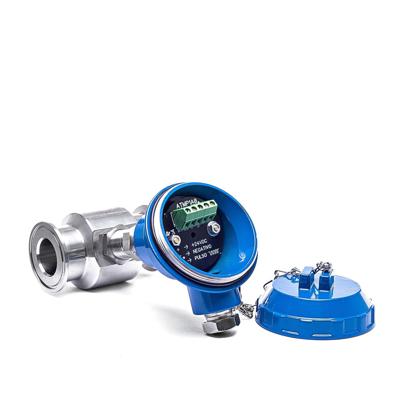 Pickup magnético com módulo amplificador para medidor tipo turbina