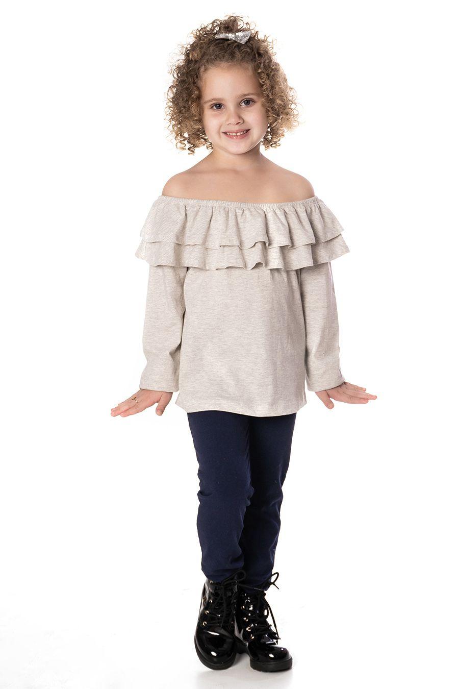 Blusa Ciganinha com babados - Infantil