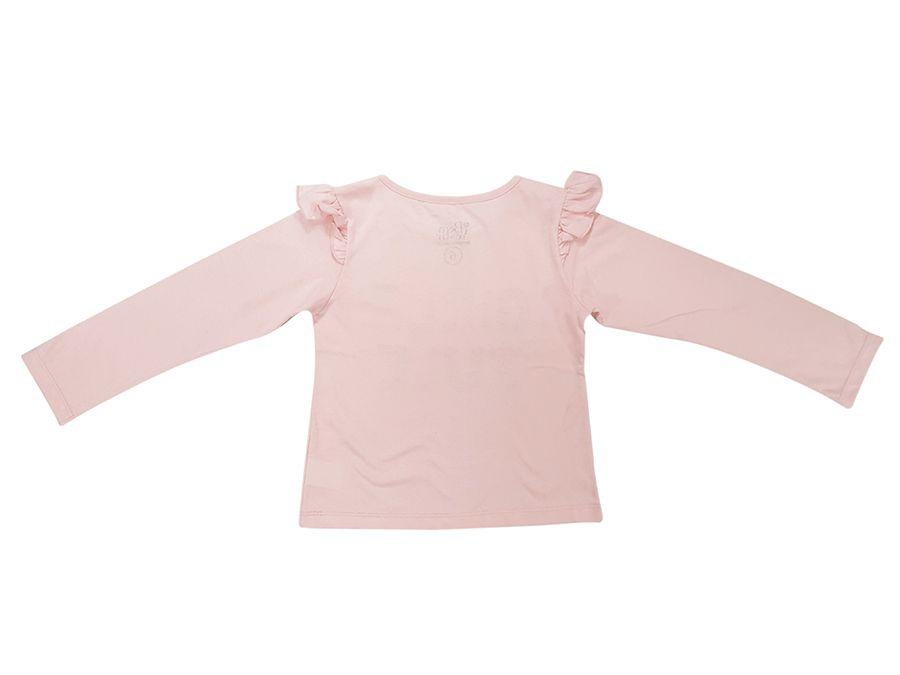 Blusa de manga longa estampada , com babadinho na manga - Infantil