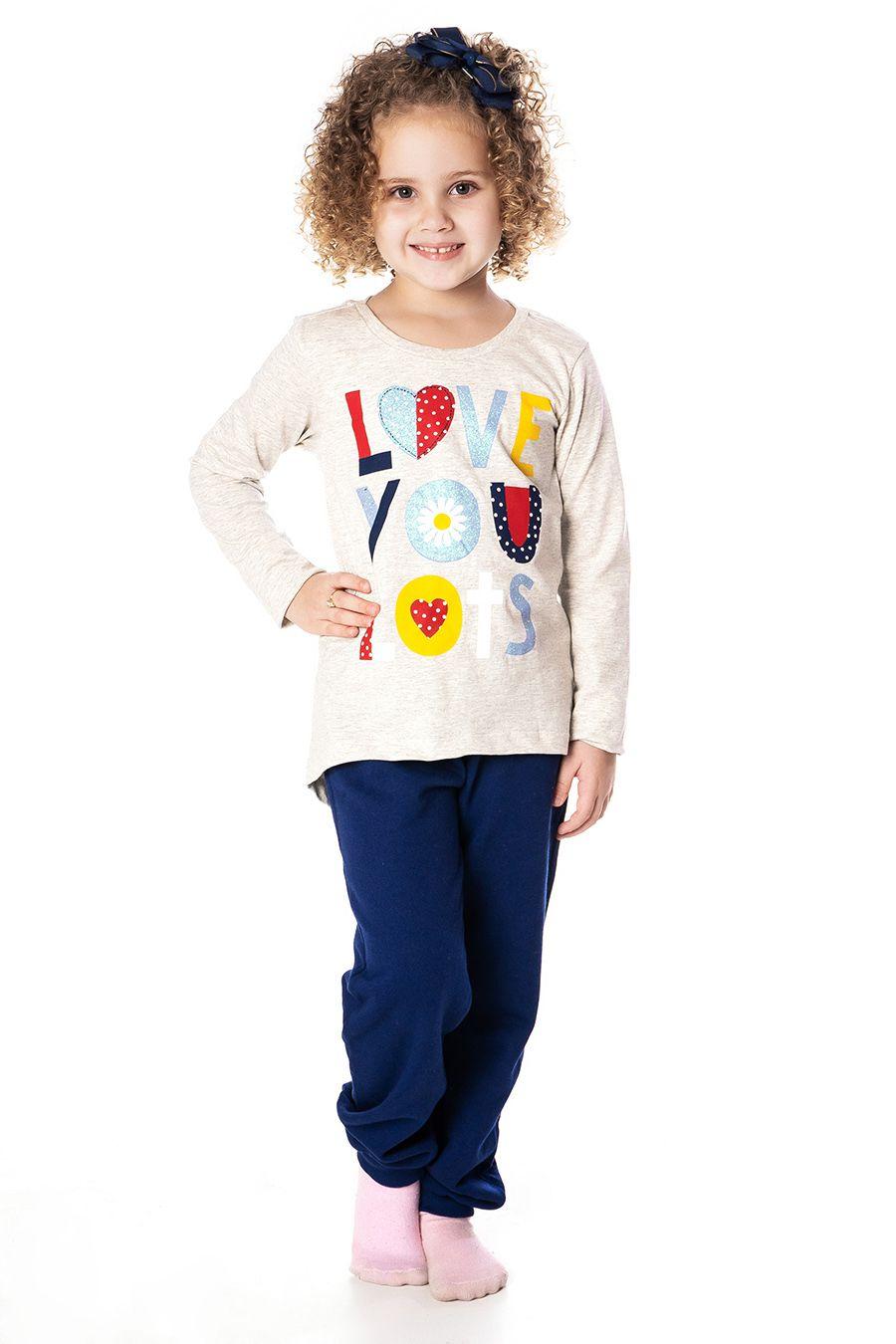Blusa Mullet manga longa com estampa - Infantil