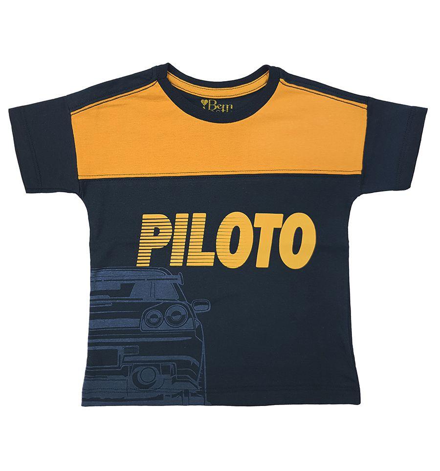 Camiseta com recorte e estampa frontal - Primeiros Passos