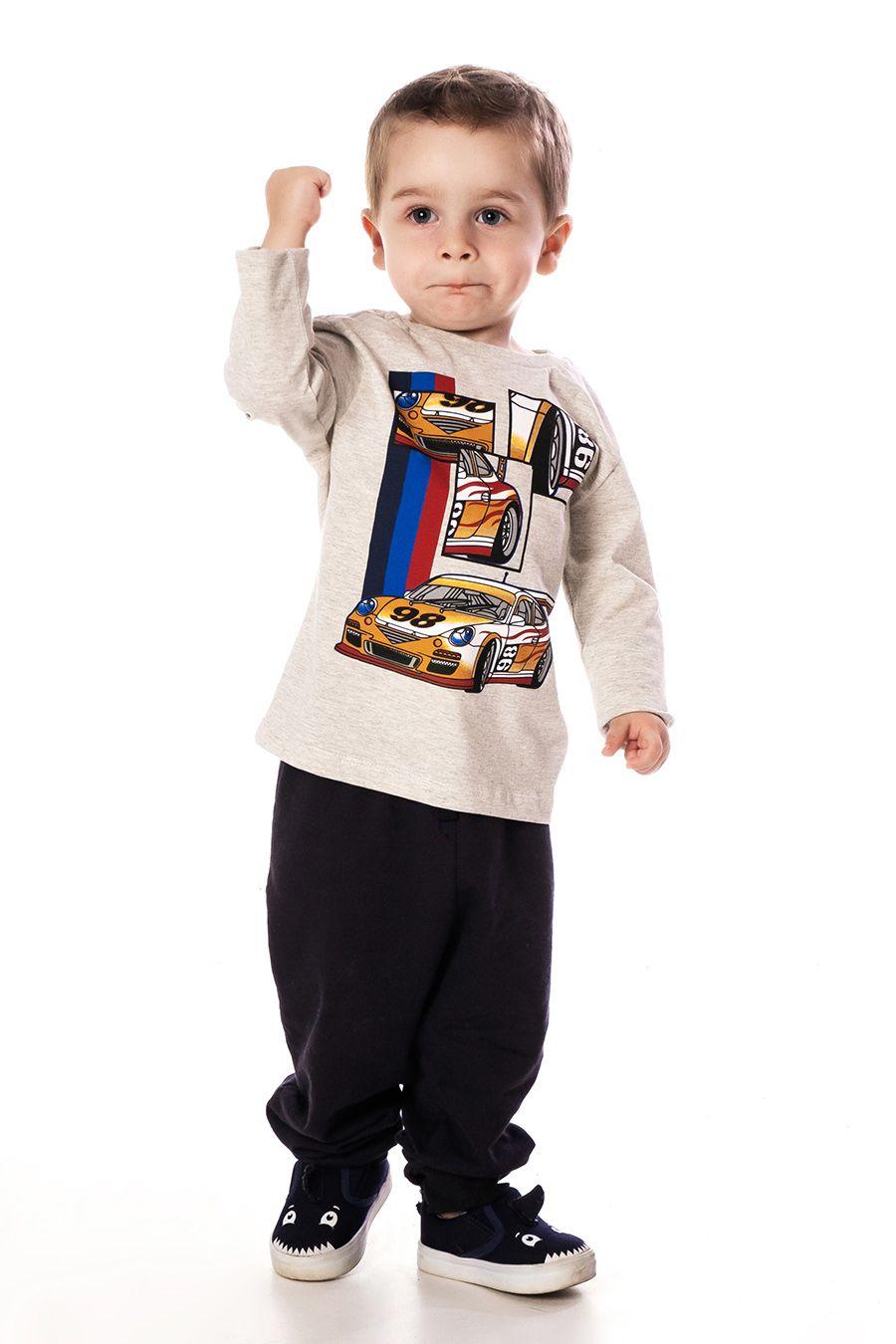 Camiseta manga longa com estampa - Primeiros Passos