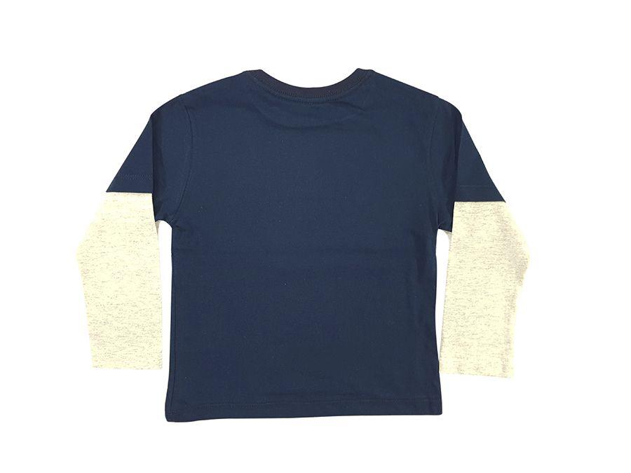 Camiseta manga sobrepostas com estampa - Primeiros Passos