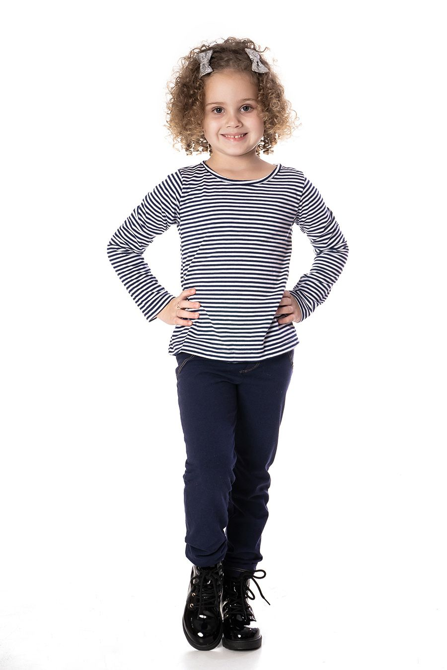 Conjunto Blusa com Colete e bordado - Infantil