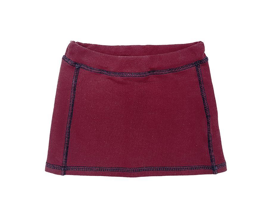 Conjunto blusa com estampa e saia de moelton - Primeiros Passos