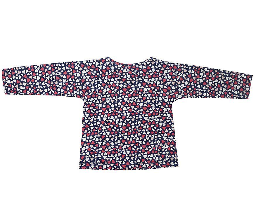Conjunto Blusa com estampa rotativa e Bordado, calça mescla com laço - Primeiros Passos