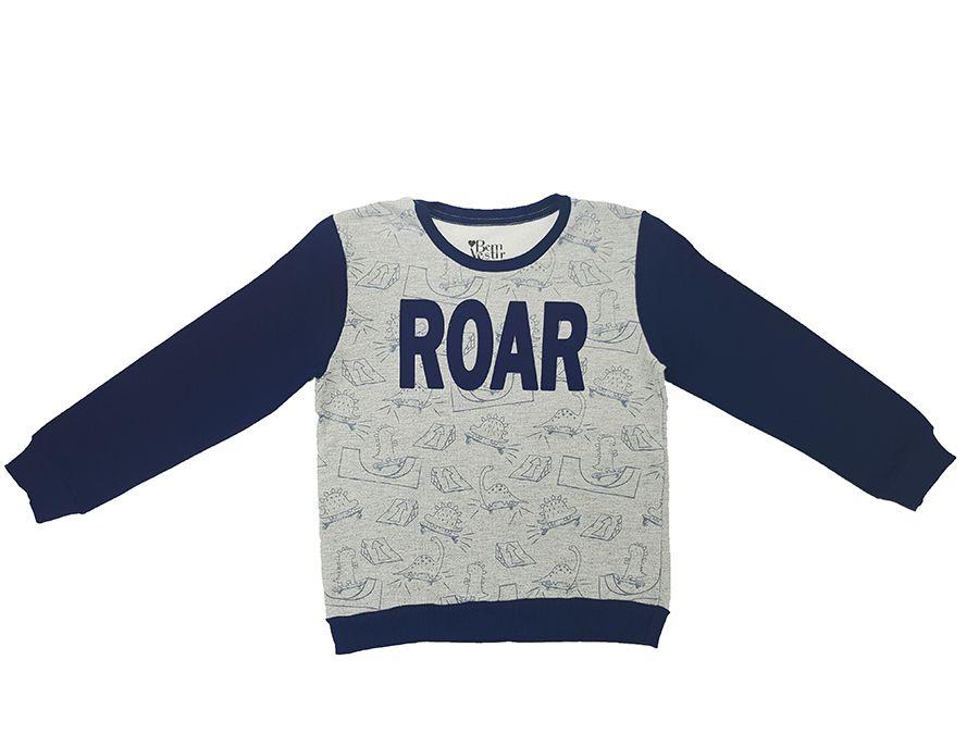 Conjunto de moleton nas cores Branca e Azul Marinho - Infantil