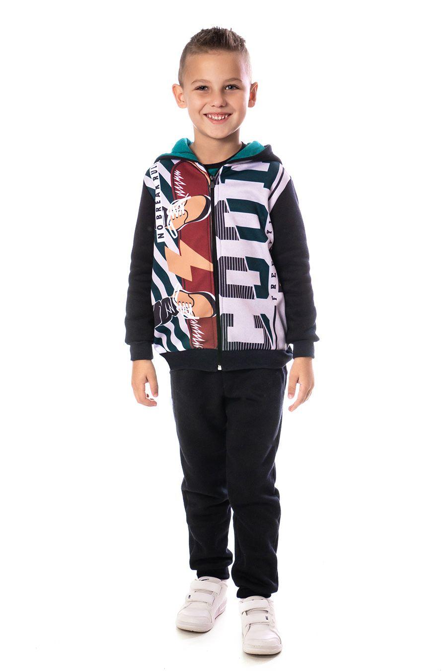 Jaqueta com capuz e zíper - Infantil