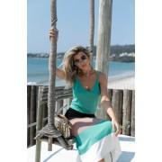 Blusa Dalia Regata Modal Decote V Vera Tricot Feminino Verde
