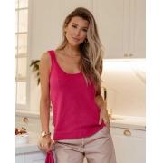 Blusa Regata Poliana Vera Tricot Pink