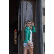Cardigã Canelado Modal Vera Tricot Feminino Verde