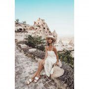 Saia Longa + Cropped Areia Vera Tricot