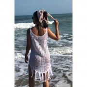 Saída De Praia Vera Tricot Feminino Branco