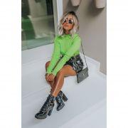 Blusa Vera Tricot Cacharrel Feminino Verde Neon