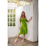 Vestido Ciganinha Crisviane Vera Tricot - Verde