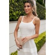Vestido Longo Tricot Cláudia - Off White
