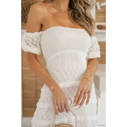 Vestido Midi Tricot Loren - Off White
