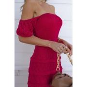 Vestido Midi Tricot Loren - Pink