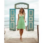 Vestido Nádia Curto Vera Tricot - Verde Claro