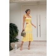 Vestido Tricot Modal Franciele - Amarelo