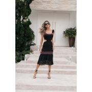 Vestido Tricot Modal Franciele - Preto