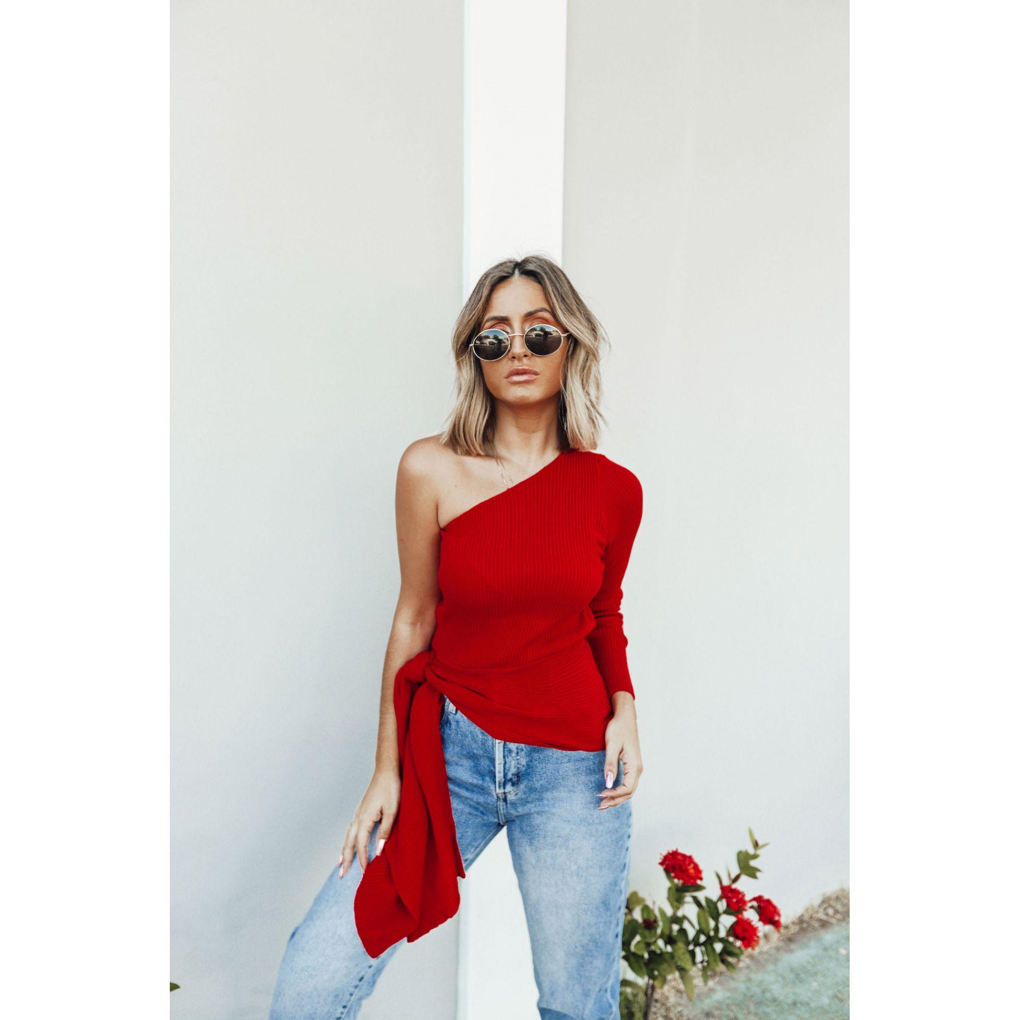Blusa Canelada Mula Manca Vermelho