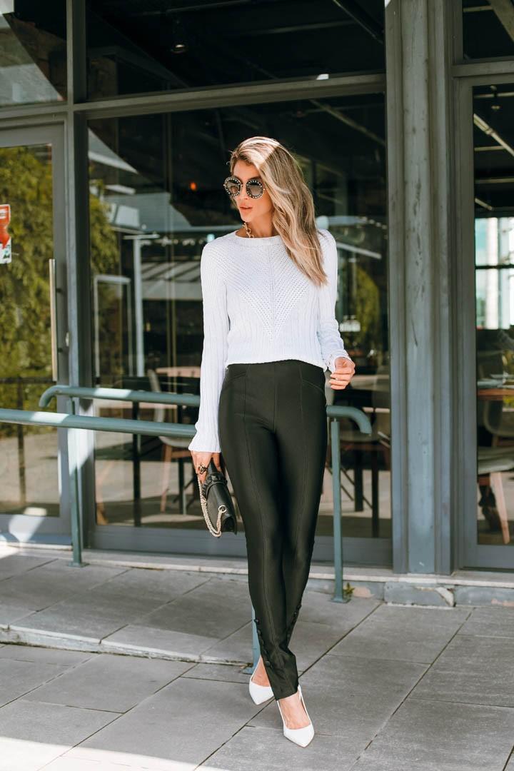 Blusa Katarine Peça Pronta Manga Longa  Mullet Vera Tricot Feminino Branco