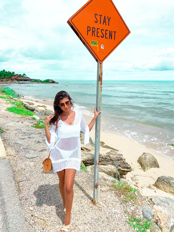 Saída De Praia Ariel Tricot Manga Flare Feminino Branca