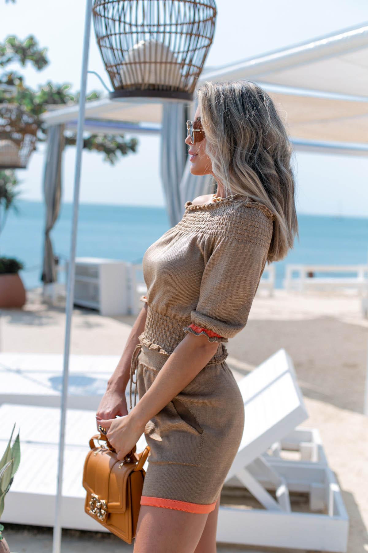 Short Girassol Vera Tricot Feminino  Cobre / Laranja