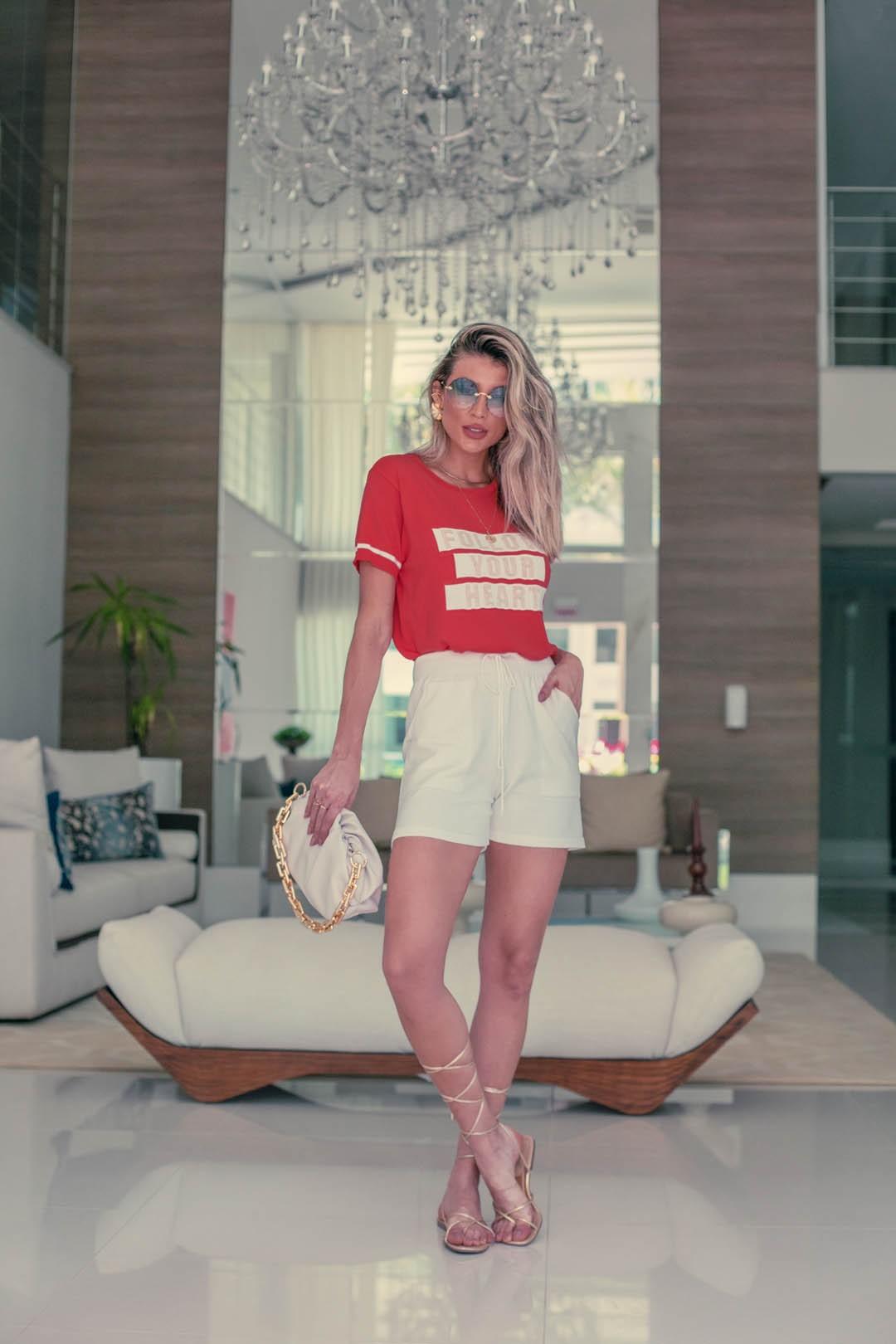 Shorts Modal Lírio Vera Tricot Feminino Off