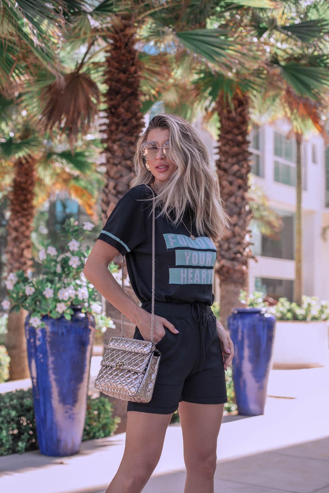 Shorts Modal Lírio Vera Tricot Feminino Preto