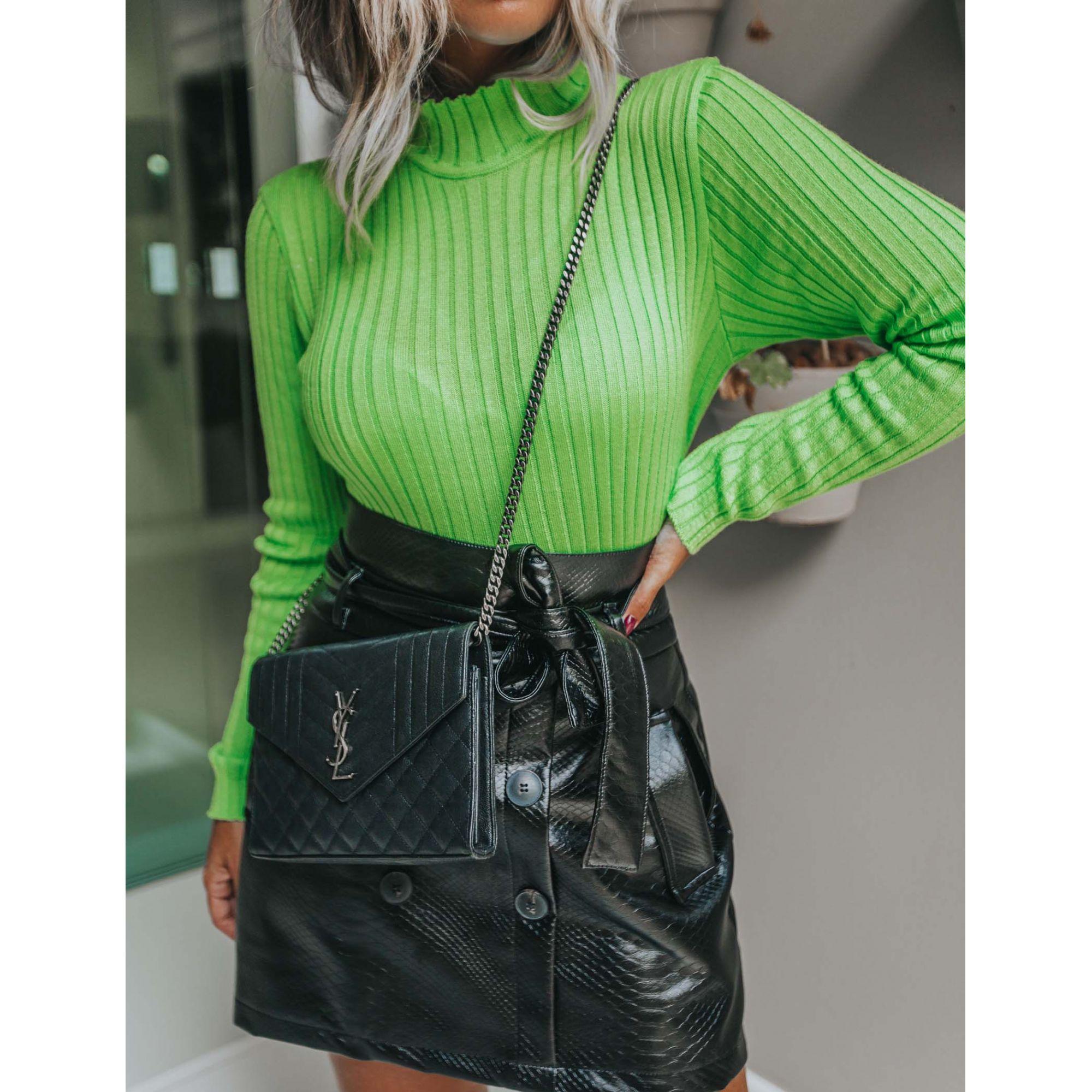 Tricô Blusa Vera Tricot Cacharrel Feminino Verde Neon