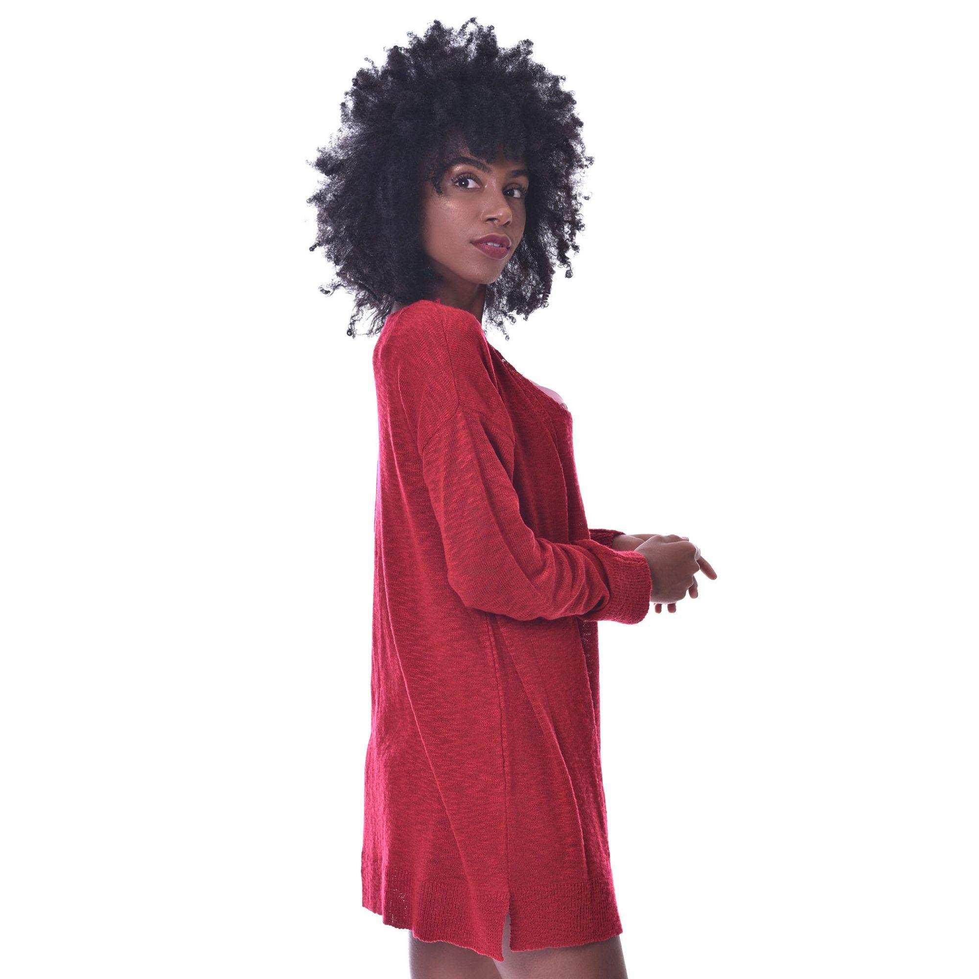 Casaco Vera Tricot Feminino Vermelho