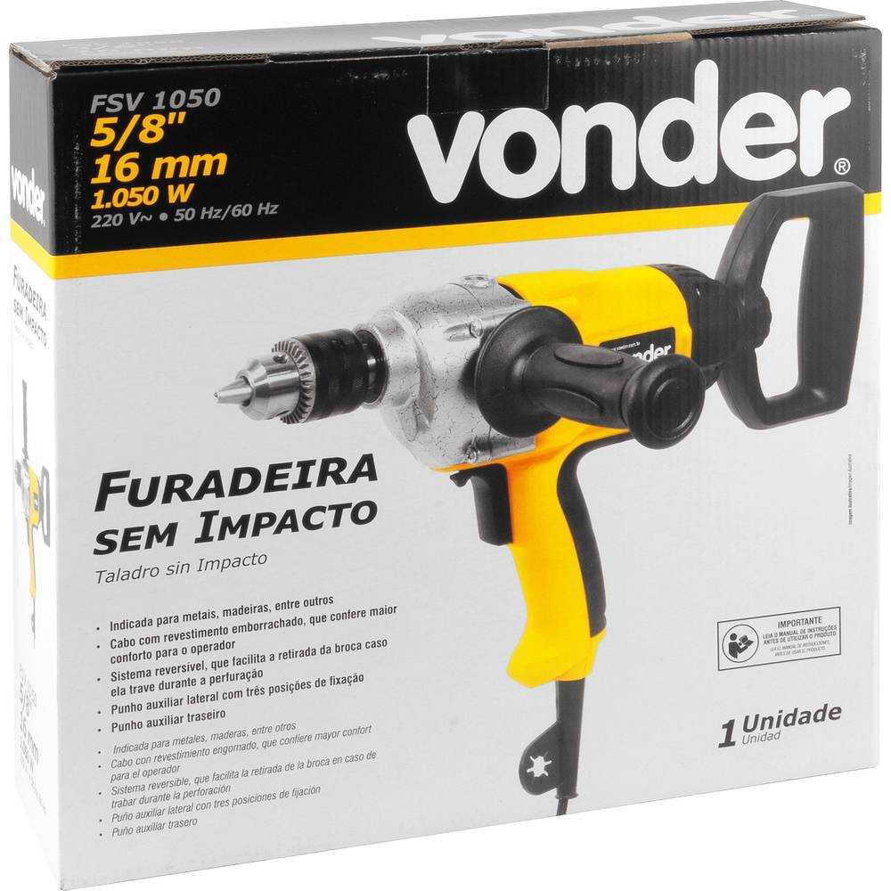 FURADEIRA SEM IMPACTO VONDER FSV1050 5/8 POLEGADA 1050W 220V
