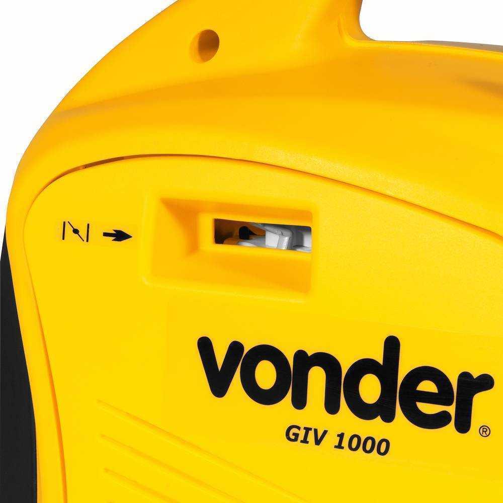 GERADOR INVERSOR A GASOLINA VONDER GIV1000 1,8HP 900W