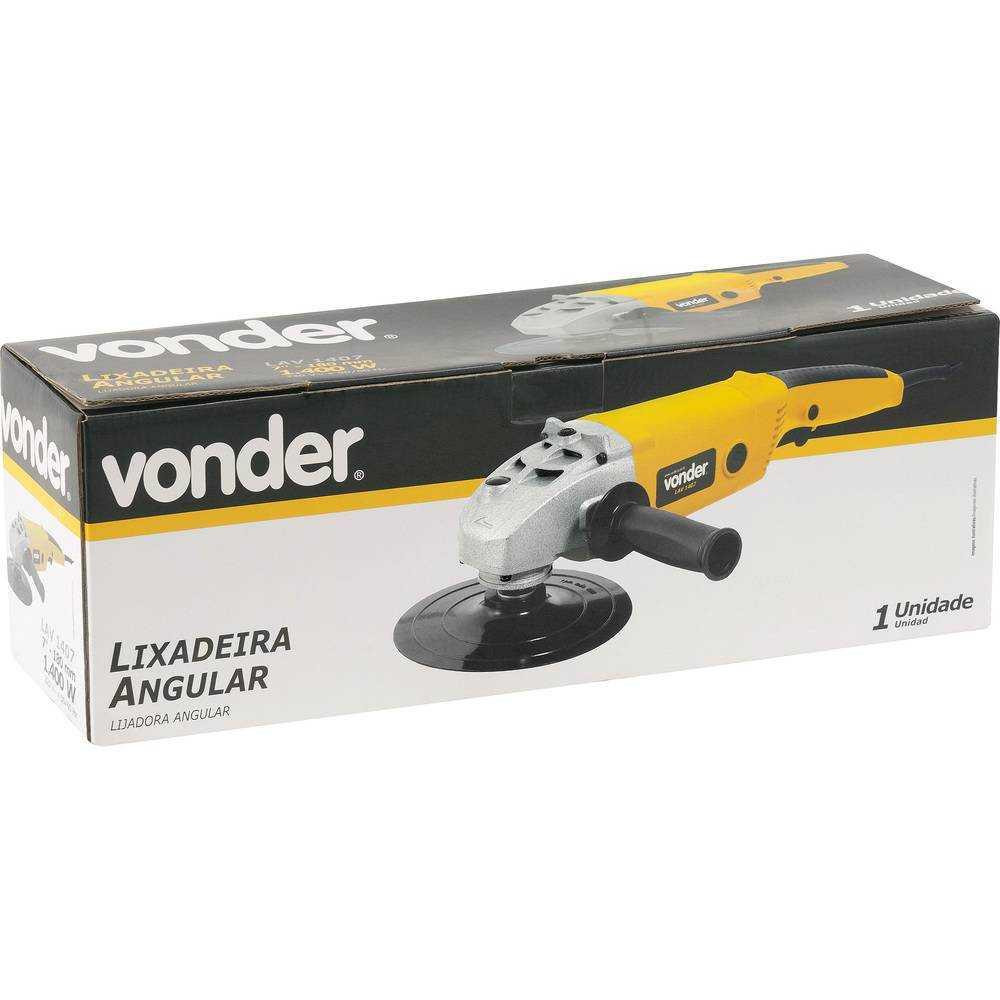 LIXADEIRA ANGULAR 7 POLEGADAS VONDER LAV1407 1400W 5500 RPM