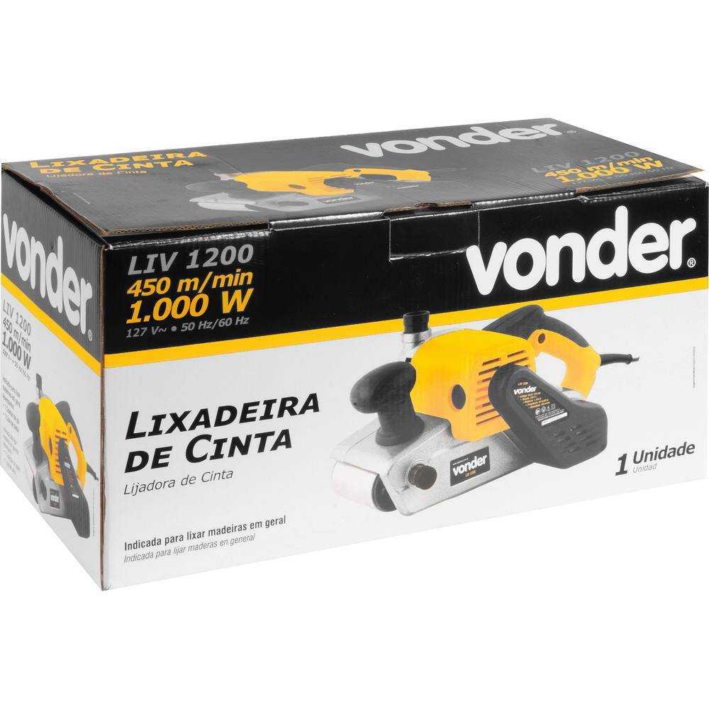LIXADEIRA DE CINTA VONDER LIV1200 1000W