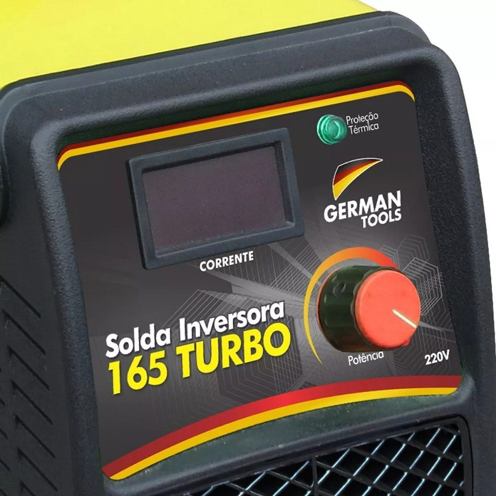 MÁQUINA SOLDA INVERSORA GERMAN TOOLS 165 TURBO 220V DIGITAL