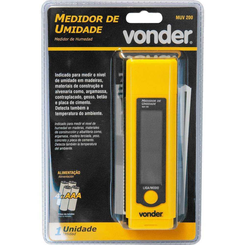 MEDIDOR DE UMIDADE VONDER MUV200