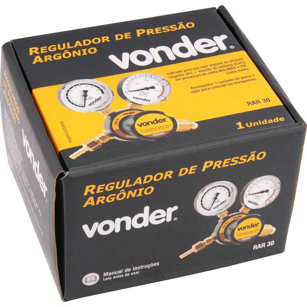 REGULADOR DE PRESSÃO ARGÔNIO VONDER RAR30