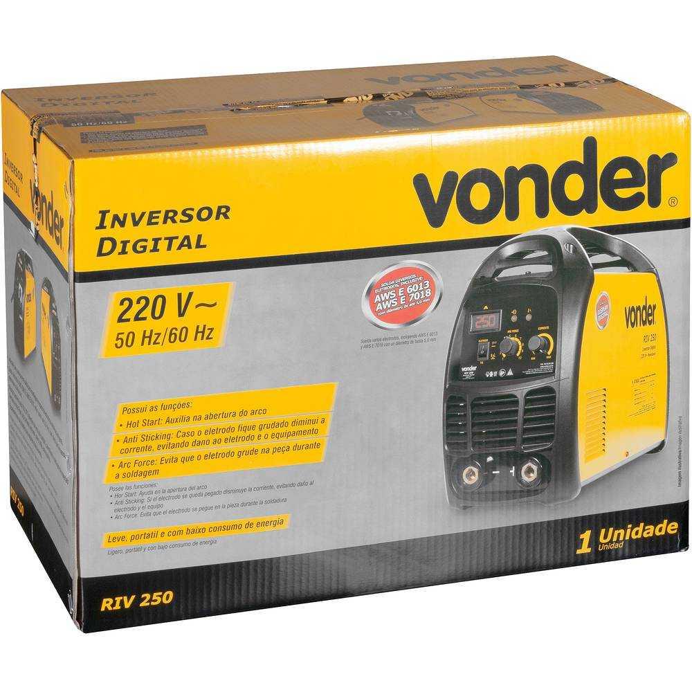SOLDA INVERSOR DIGITAL VONDER 250A RIV250 220V