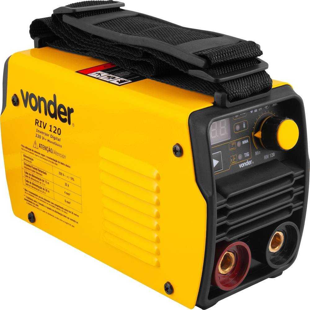 SOLDA INVERSOR DIGITAL VONDER RIV120 120 AH COM MALETA 220V