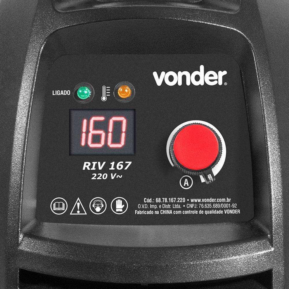 SOLDA INVERSOR DIGITAL VONDER RIV167 160 AMPERES 220V