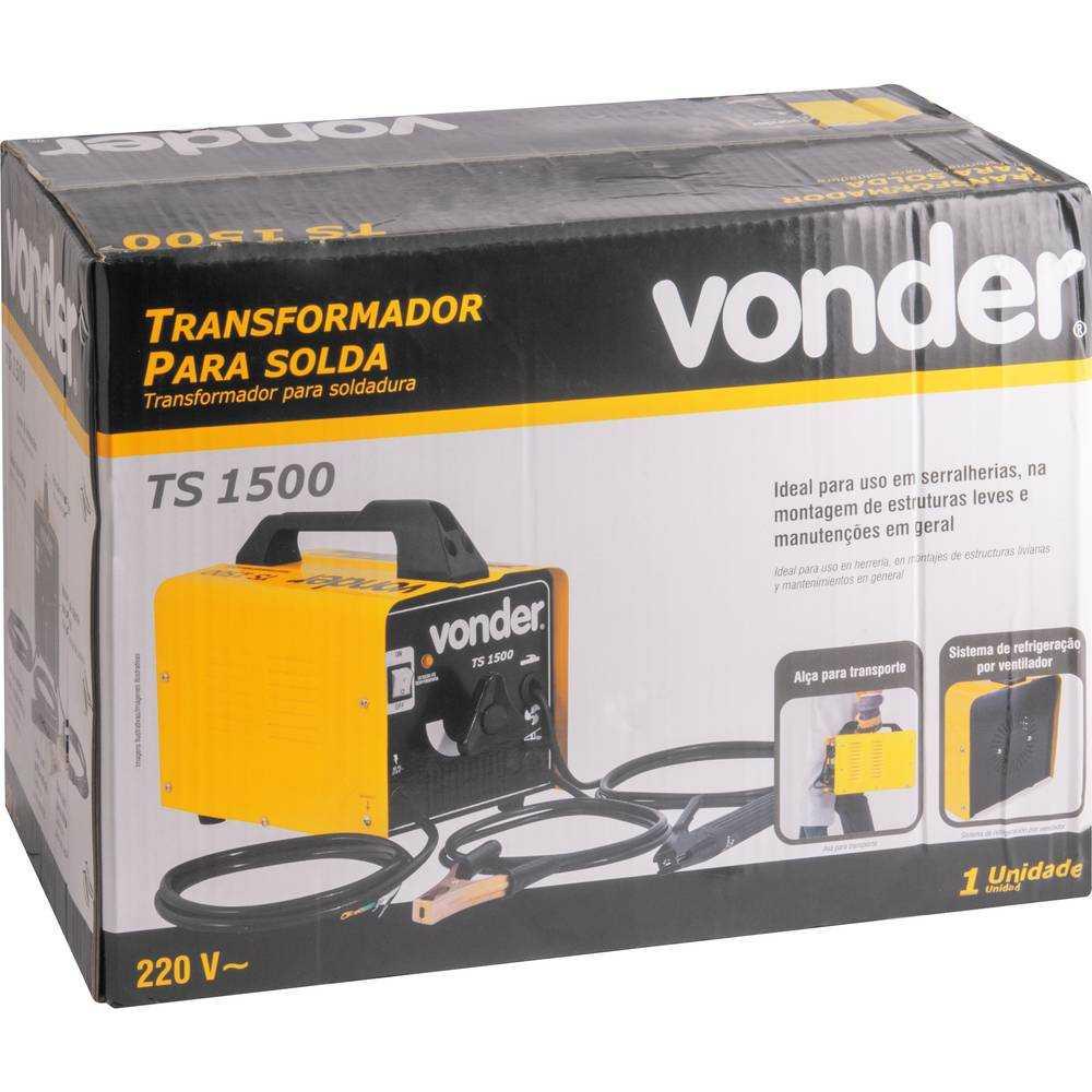 TRANSFORMADOR PARA SOLDA ELÉTRICA VONDER TS1500 220V